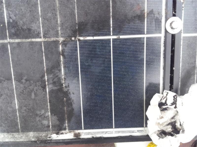 Leistugnsverlust bei Solarmodulen: Wischtest bei verschmutztem Solarmodul